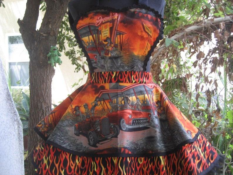 Zombie Drive Inn Car halloween costume apron