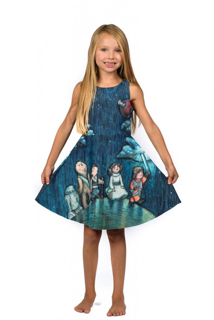 Star Gazer dress for kids: printed Star Wars characters
