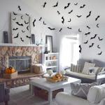Black Bats Wall Decoration for Halloween