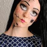 Broken Doll Temporary Face Tattoo by SugarTats