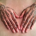 Coco Skeleton hands temporary tattoo