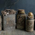 DIY Halloween Witch Apothecary Potion Bottles