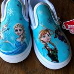 Frozen Handpainted Custom Vans Shoes for Kids