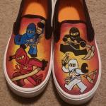 Lego Ninjago Painted Shoes