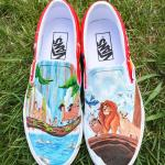 Lion King Handpainted Shoes