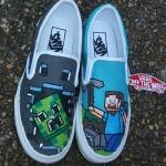 Minecraft Handpainted Shoes