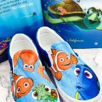 Nemo and Friends Handpainted Shoes