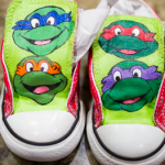 Ninja Turtles Handpainted Shoes