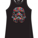 Stormtrooper Storm Trooper Tropical Floral Funny Humor Pun Juniors Tank Top