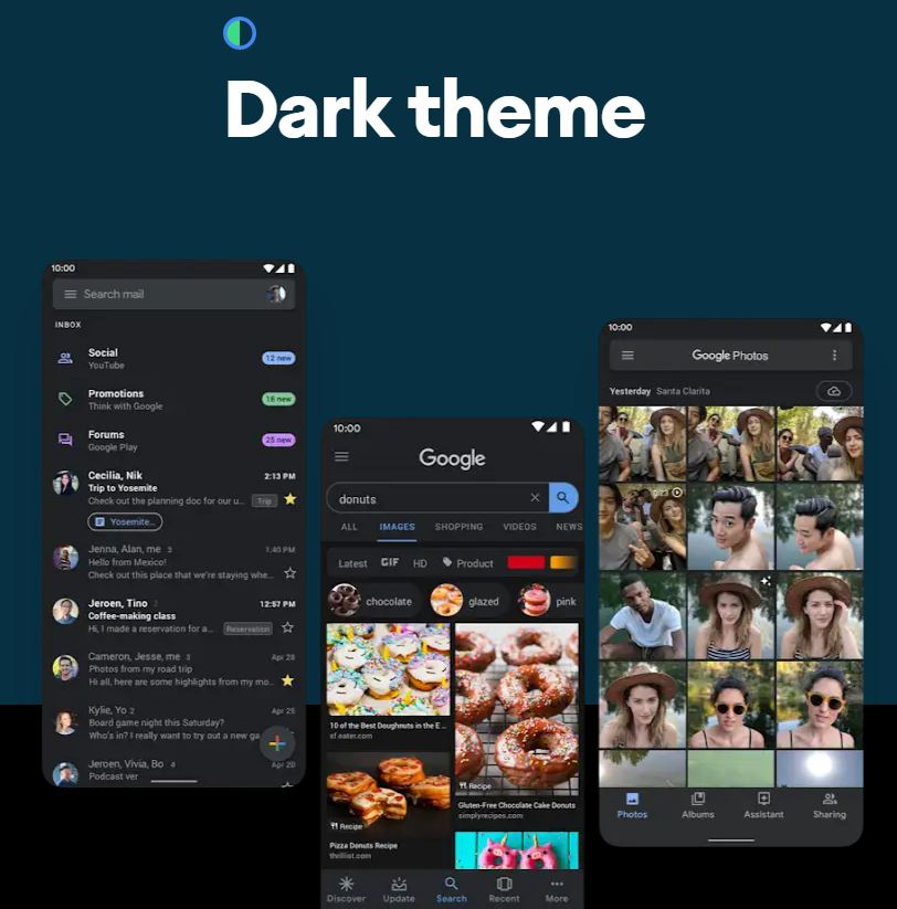 Google Dark Theme is now available