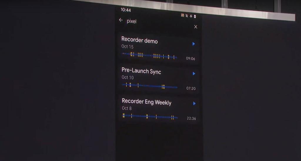 Google recorder demo