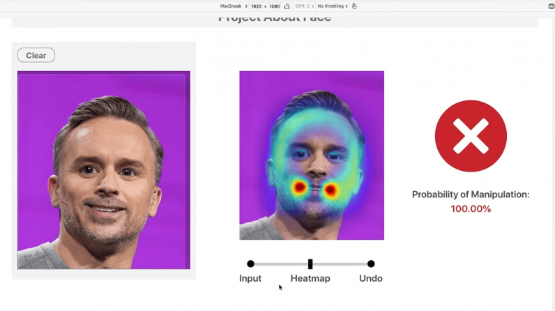 Adobe's About Face detects fakeness