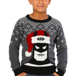 Batman in a Holiday Hat Kids Ugly Christmas Sweater