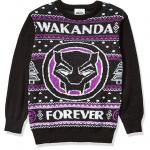 Black Panther Wakanda Forever Ugly Christmas Sweater