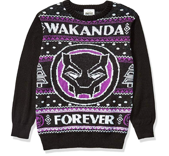 Black Panther Wakanda Forever Ugly Christmas Sweater Walyou