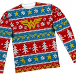 Justice League Wonder Woman Ugly Christmas Sweater
