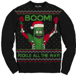 Rick and Morty Boom Pickle Rick Adult Ugly Sweater