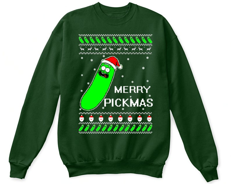 green ugly christmas sweater