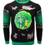 Rick and Morty Ugly Christmas Sweater Portal