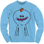 Ripple Junction Rick and Morty Meseeks Knit Adult Knit Ugly Sweater