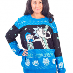 Ripple Junction Rick and Morty Wubba Lubba Spaceship Christmas Sweater