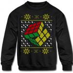 Rubik's Cube Ugly Christmas Kids' Crewneck Sweatshirt