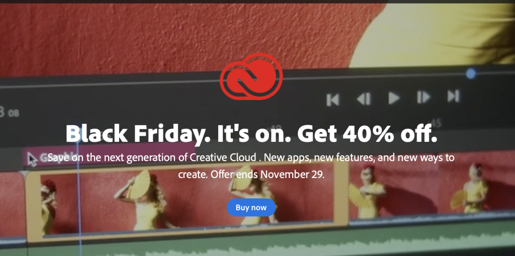Adobe Creative Cloud Discounts for Black Friday