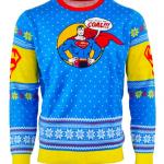 Superman Ugly Christmas Sweater Bad Guys Get Coal