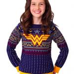 Wonder Woman Navy Ugly Christmas Sweater