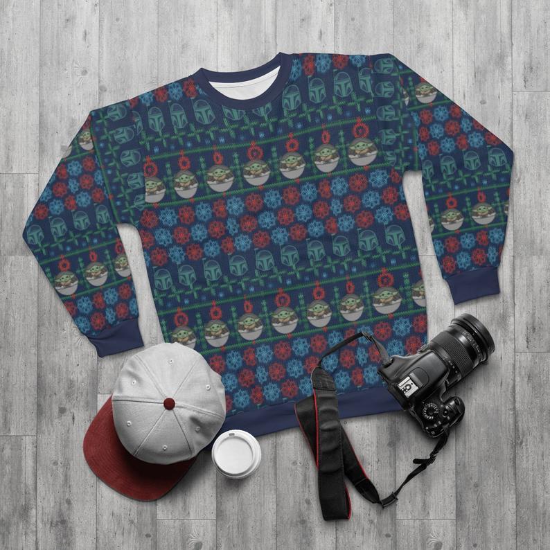 Baby Yoda & Mando Ugly Sweater
