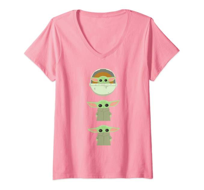 Pink Star Wars Baby Yoda T-Shirt
