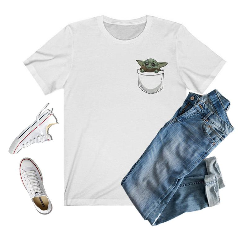 Baby Yoda Little Pocket T-Shirt