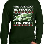 Baby Yoda Ugly Christmas Sweater He Attack