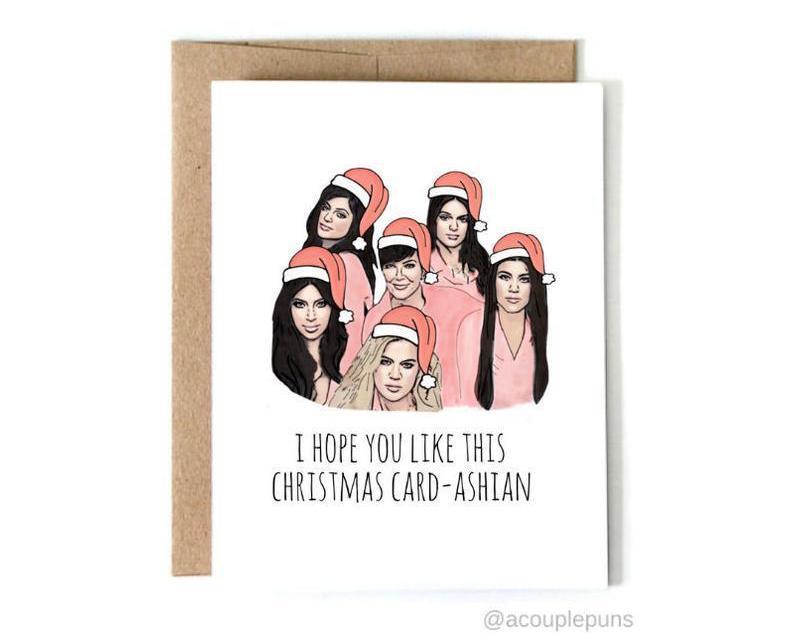 Kardashian Funny Christmas Card