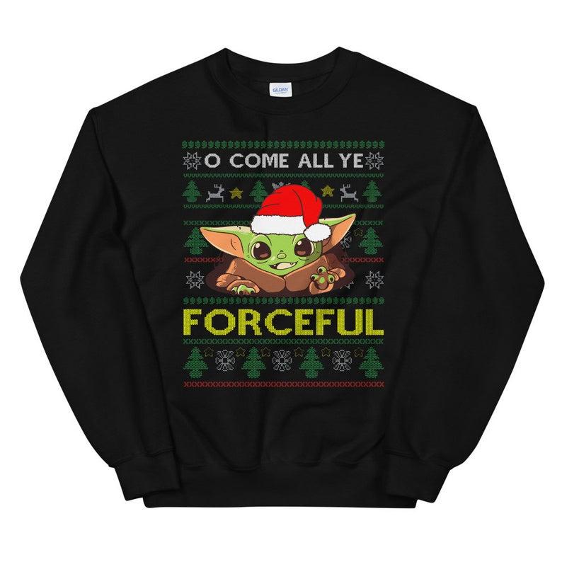 Cartoon Baby Yoda Ugly Christmas Sweater