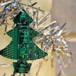 Circuit Board Christmas Tree Decoration