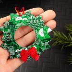 Circuit Board Wreath Ornament
