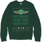 Customizable Baby Yoda Ugly Christmas Sweater