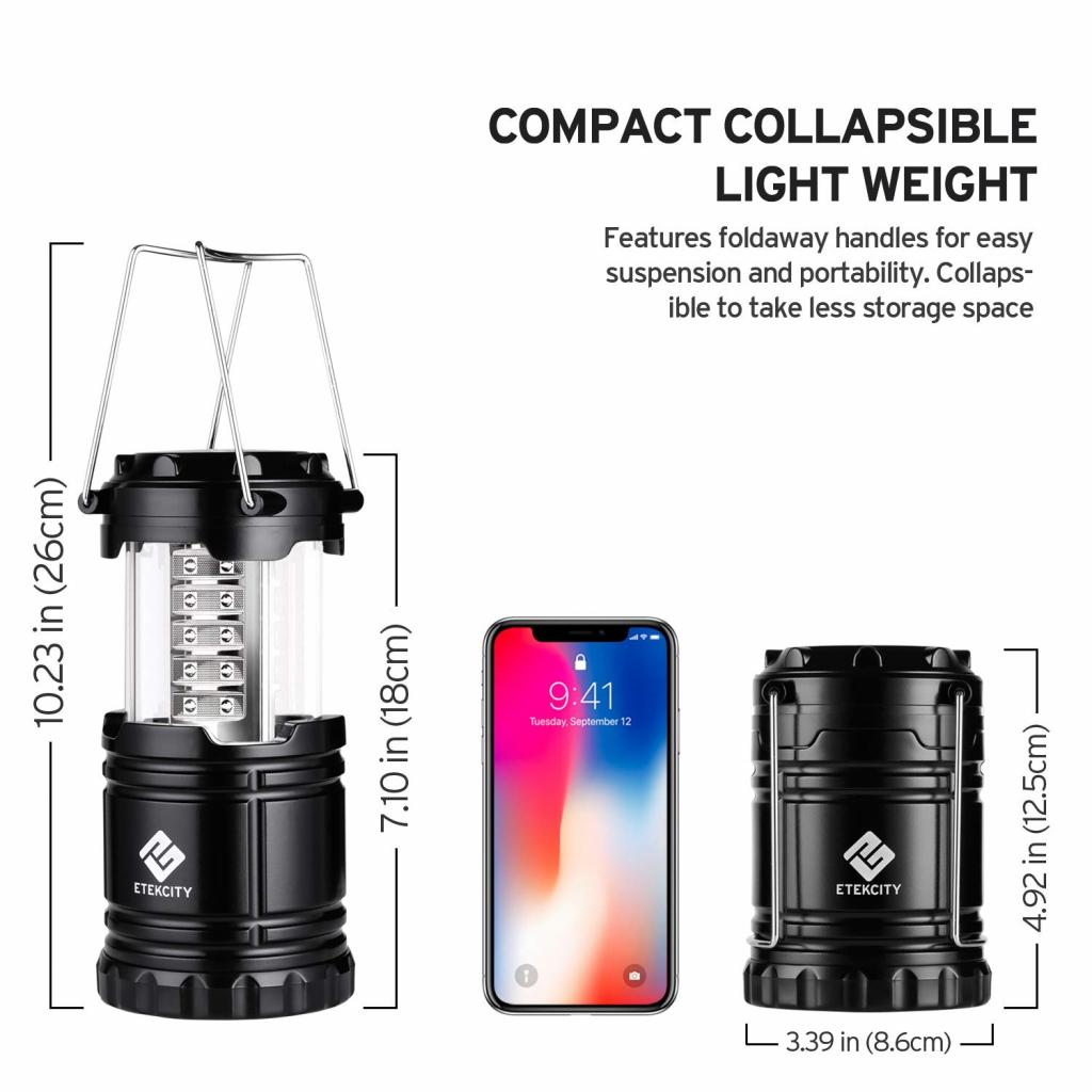 Etekcity 4 Pack LED Camping Lantern Portable Flashlight