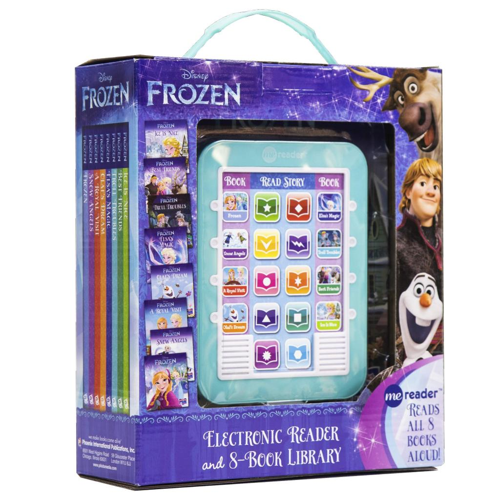 Frozen Me Electronic Reader and 8 Book Library