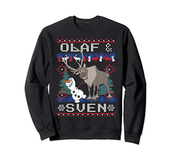 Disney Frozen Olaf Sven Ugly Christmas Sweater Sweatshirt