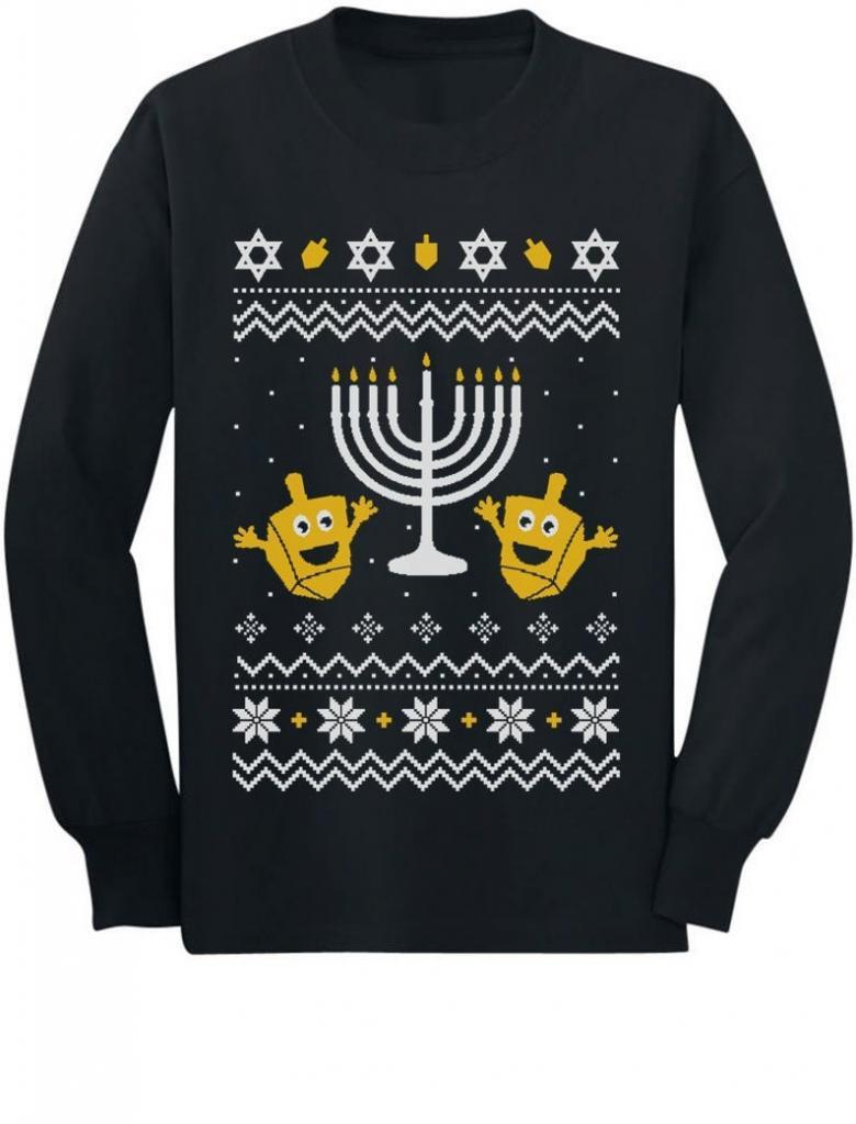 Happy Hanukkah Ugly Menorah Sweater
