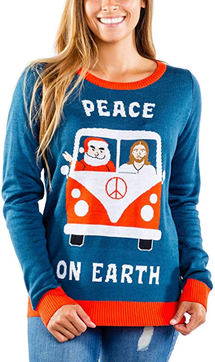 Santa & Jesus Ugly Christmas Sweater