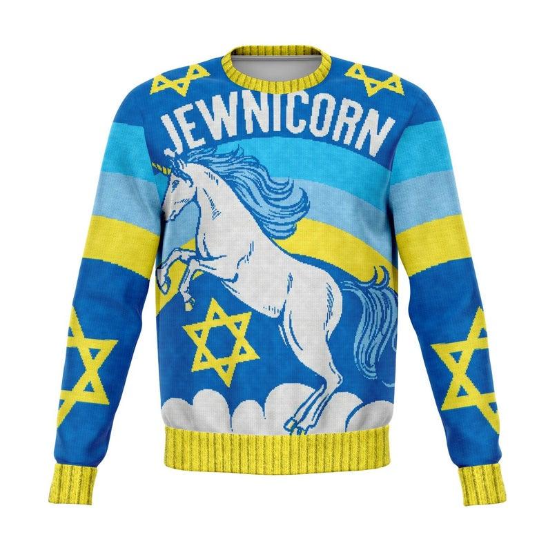 Jewnicorn Jewish Unicorn Funny Boxing Xmas Sweater