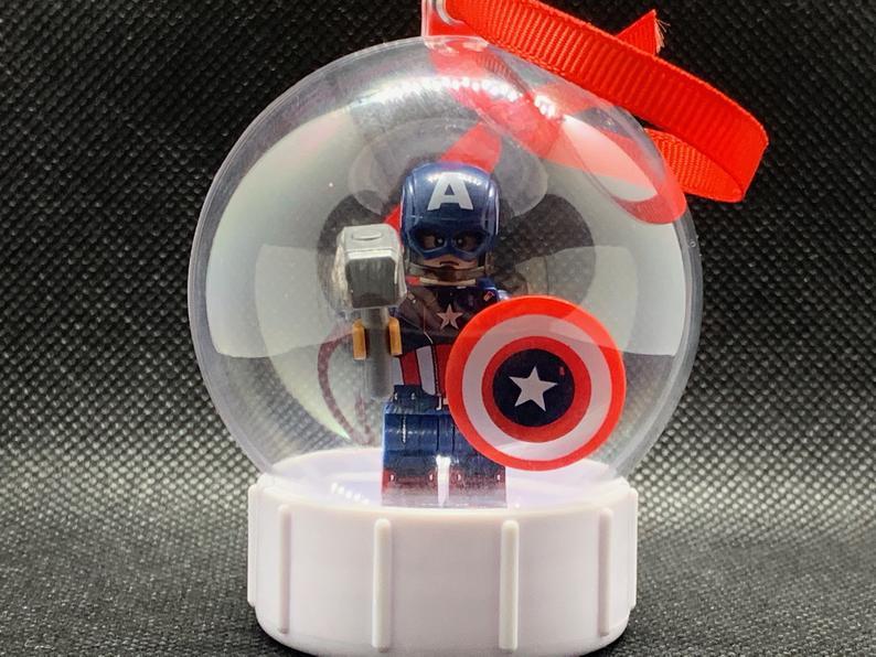LEGO Captain America Christmas Ornament