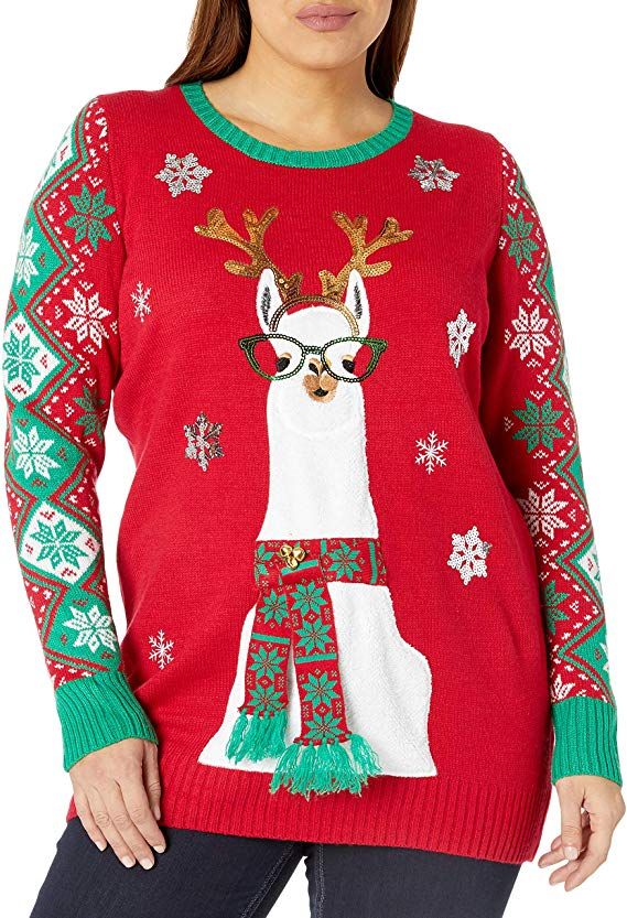 Llama Christmas Tunic Christmas Sweater