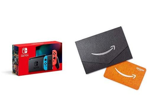 Nintendo Switch, Joy-Con and Amazon Gift Card