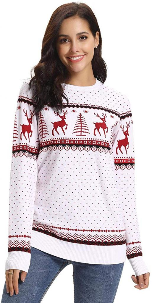 Reindeer Tree Snowflakes Patterns Pullover