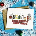 Seasonings Greetings Funny Christmas Card