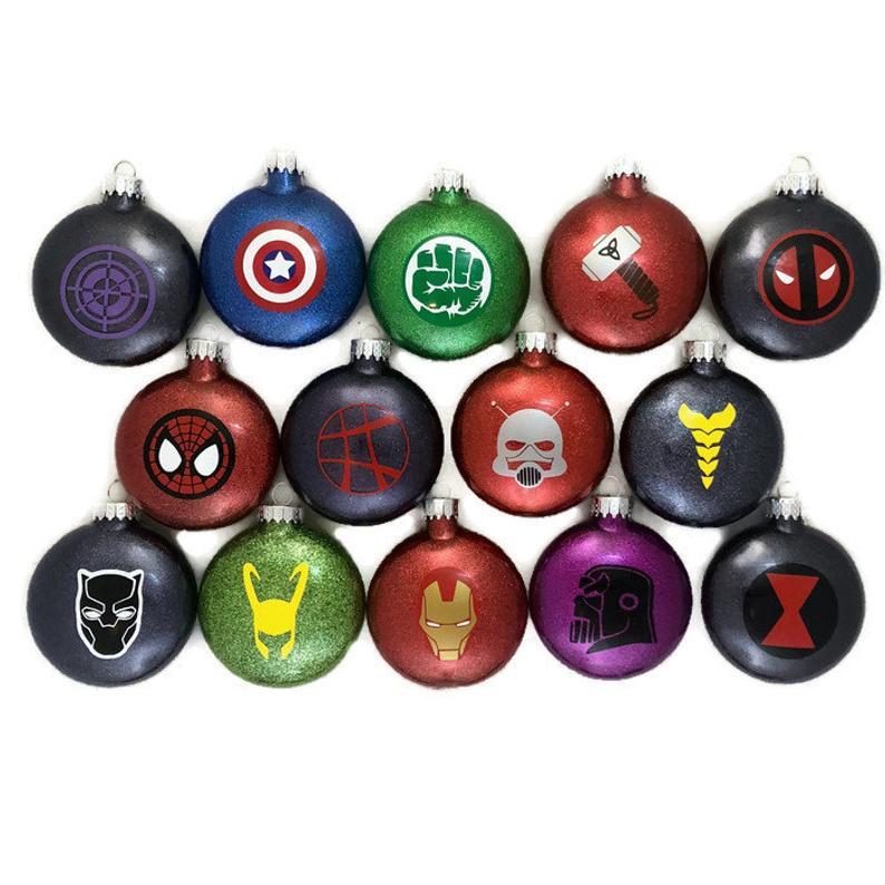 Set of 14 Super Hero Ornaments